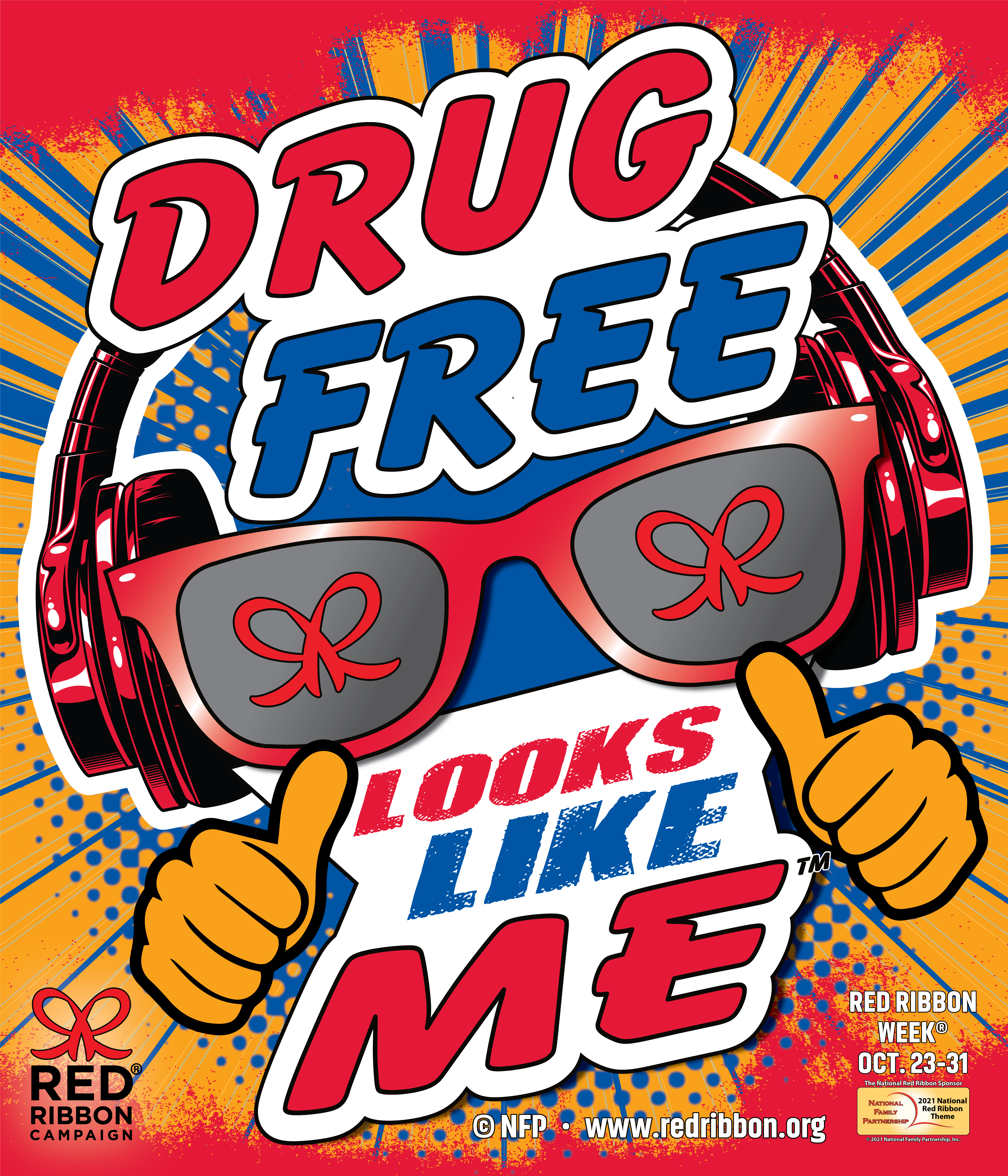 ART for Red Ribbon Campaign Drug Free Looks Like Me