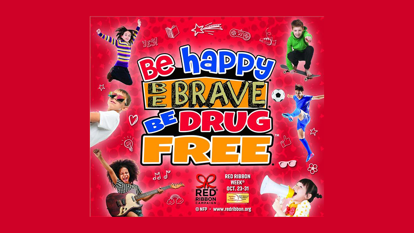2020 Red Ribbon Week Theme | Be Happy. Be Brave. Be Drug Free.